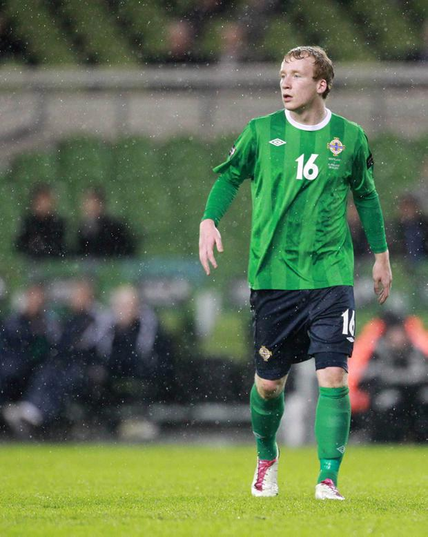 Glentoran are hoping to sign Northern Ireland international Liam Boyce