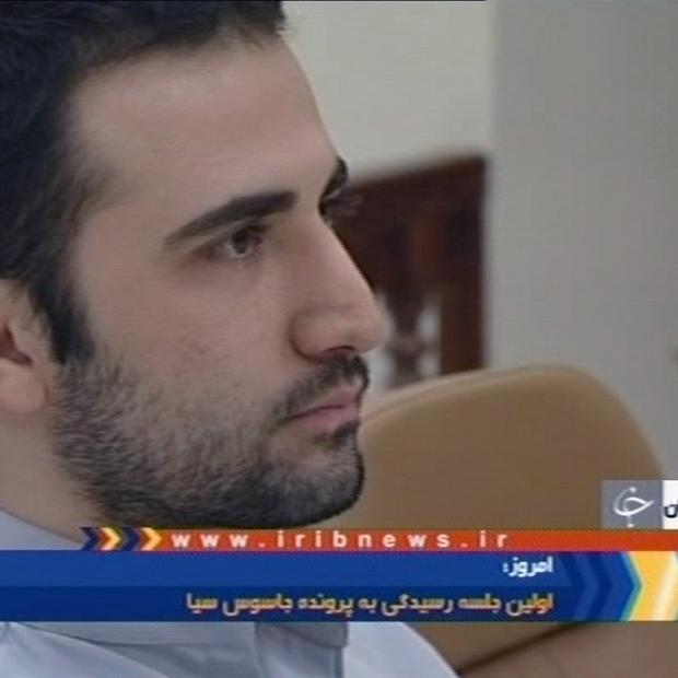 A video frame grab image from Iranian TV of American Amir Mirzaei Hekmati, accused by Iran of spying for the CIA (AP)