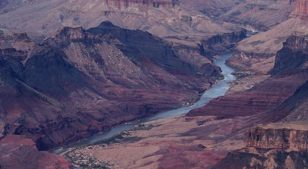 The Colorado river passes through the Grand Canyon