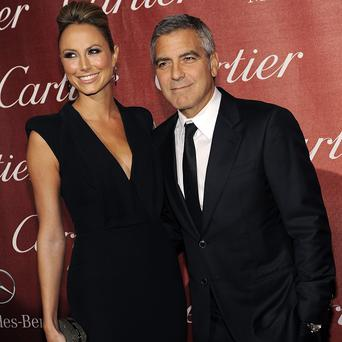George Clooney and girlfriend Stacy Keibler at the Palm Springs International Film Festival Awards Gala