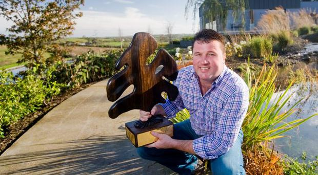 Geoff Cameron, whose business is based on the Ballylesson Road, Belfast won an award from the Association of Landscape Contractors of Ireland