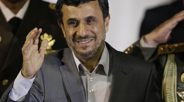 Iran's president Mahmoud Ahmadinejad is visiting Venezuela (AP)
