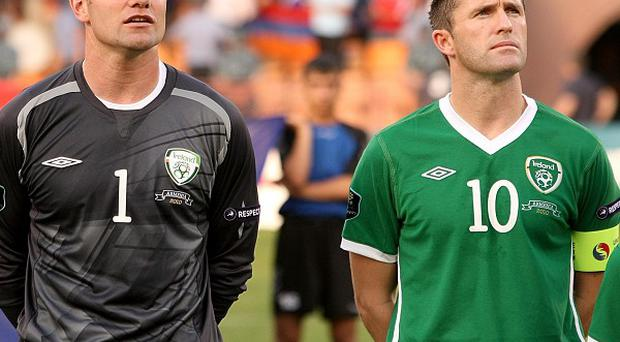 Shay Given (left) and Robbie Keane