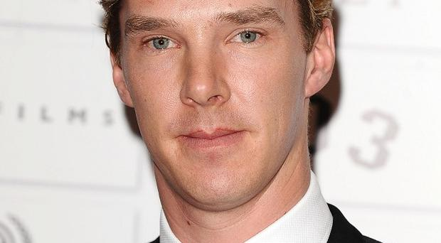 Benedict Cumberbatch had to apologise for being late for his meeting with Steven Spielberg