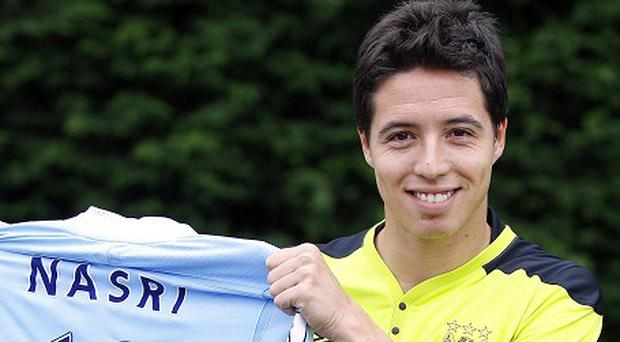 Samir Nasri left Arsenal for Manchester City