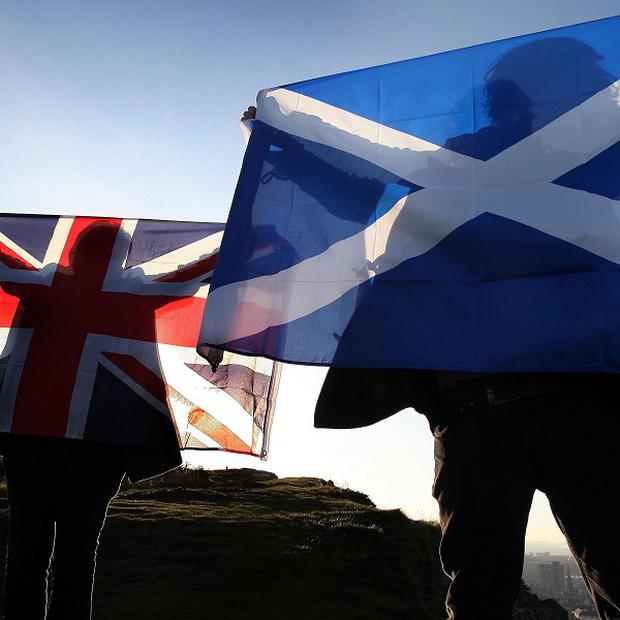 A new poll suggests 26 per cent of voters in Scotland want to break up the Union, compared with 46 per cent who do not