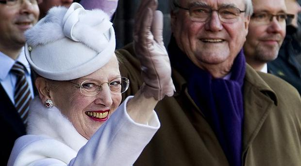 Danish Queen Margrethe and Prince Consort Henrik t Copenhagen City Hall (AP)
