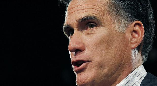 Republican candidate and former Massachusetts governor Mitt Romney