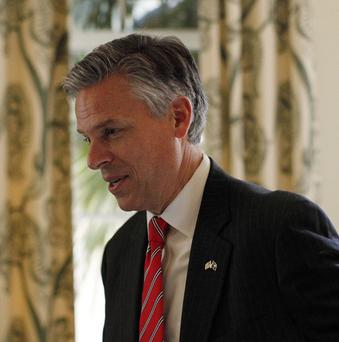 Republican presidential nomination candidate Jon Huntsman was routinely at the bottom of national polls (AP/Matt Rourke)