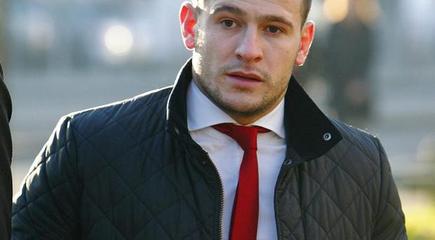 England rugby player Danny Care arrives at Southampton Magistrates' Court