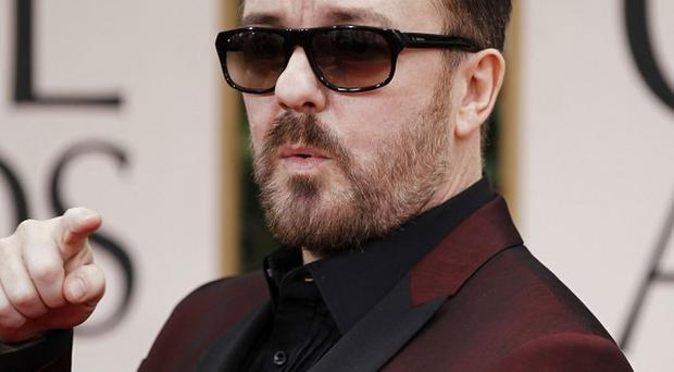 Ricky Gervais has once again been making jokes at the expense of Hollywood A-listers
