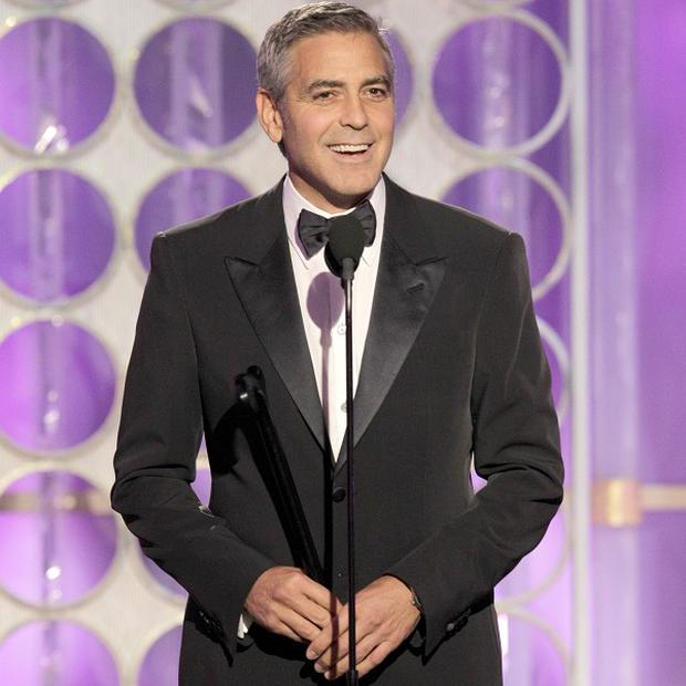 George Clooney picked up a gong at the Golden Globes