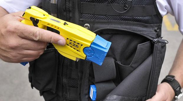 Police in Londonderry deployed a Taser after a man allegedly armed with a hatchet chased a group of children