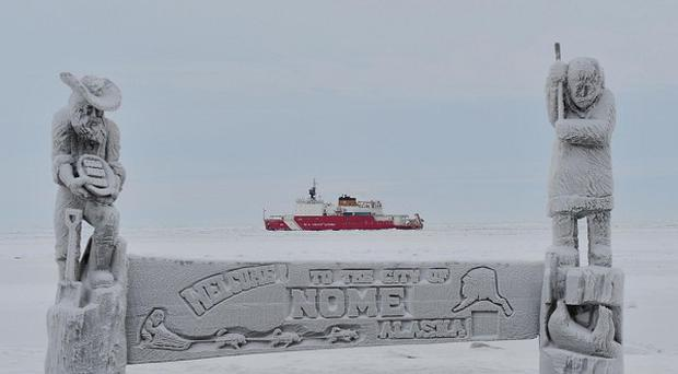 The city of Nome did not get its last pre-winter barge fuel delivery because of a massive storm (AP)