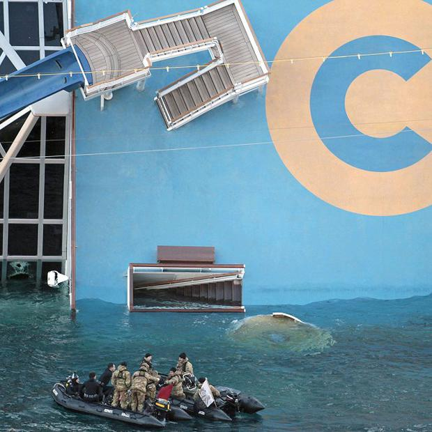 A tape claims to show how the captain of the cruise ship Costa Concordia fled the scene after it got into trouble (AP)