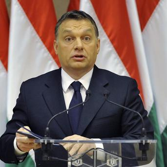 Hungarian Prime Minister Viktor Orban who is on a collision course with the EU over his changes to the country's constitution (AP)