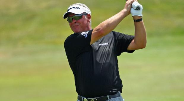 Darren Clarke, pictured yesterday during the Pro-Am for the Volvo Golf Champions in South Africa, has started a new fitness regime