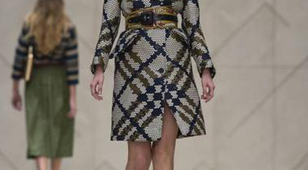 Wide belts at Burberry