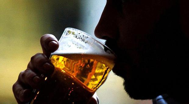 A specific test used to identify problem drinkers indicated that 9 per cent of people fell into that category