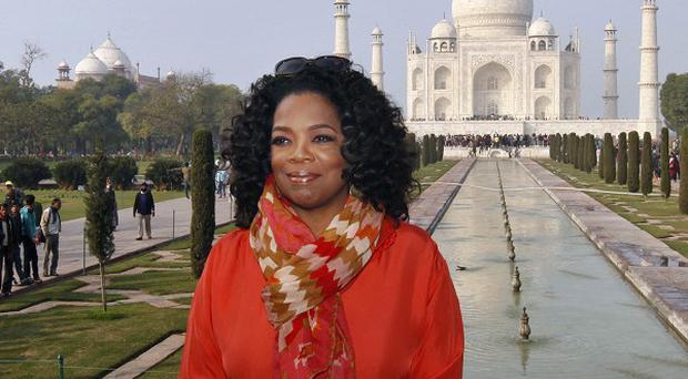 Oprah Winfrey has been visiting India