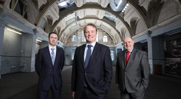 Earl of Iveagh Arthur Edward Rory Guinness launched his family's investment management fund in Northern Ireland. The Earl (centre) was joined by Andrew Kennedy (left) and Jack Grundie of Summit Wealth Solutions, which will distribute the fund in Northern Ireland