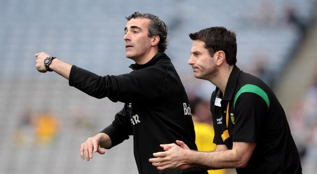 Jim McGuinness (left) led Donegal to the All Ireland semi-finals last year