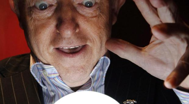 Magician Paul Daniels, who has told how he accidentally sliced off the top of his finger with a circular saw as he was making props in his garden shed on New Year's Day