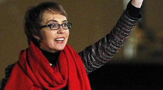 Gabrielle Giffords will resign from Congress this week (AP)