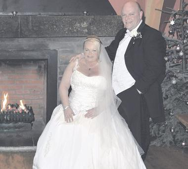 Great day: Ronnie and Norah Coates (nee McGuckian) on their wedding day in Ballygally Castle' <p><b>To send us your Wedding Pics <a href=