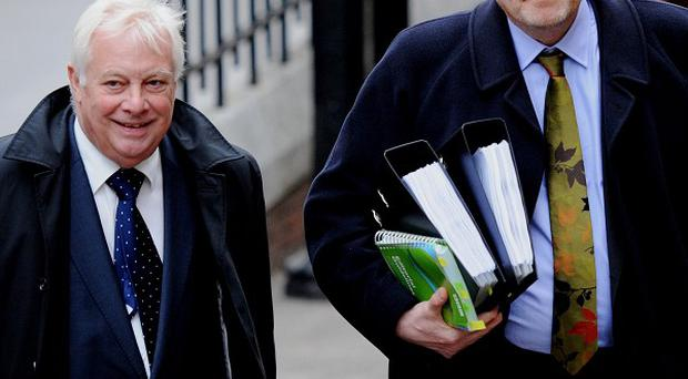 BBC director-general Mark Thompson, right, and BBC Trust chairman Lord Patten arrive at the Leveson Inquiry in London