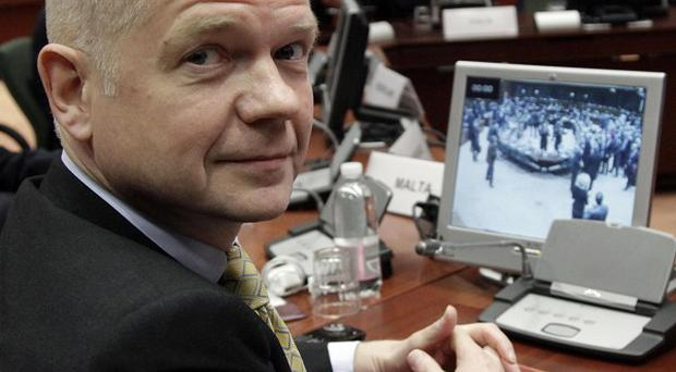 British Foreign Minister William Hague backed the tough stance on Iran