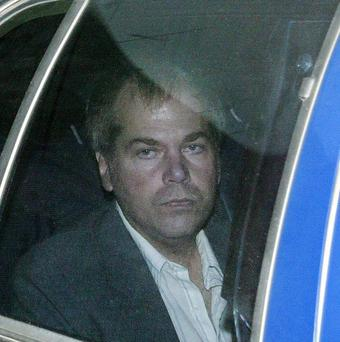 John Hinckley arrives at US District Court in Washington (AP)