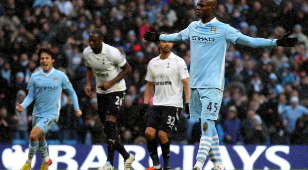 Mario Balotelli has been given a four-match ban for an alleged stamp on Tottenham's Scott Parker