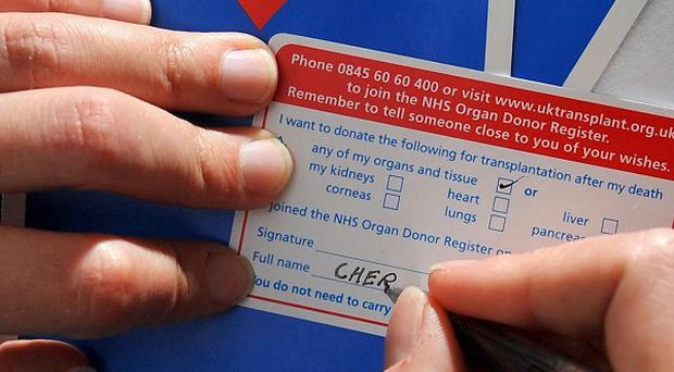 A charity has warned the Government it is likely to miss a target to boost organ donor rates