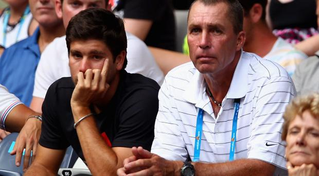 Ivan Lendl (right) has been watching Andy Murray's Australian Open progress from the stands