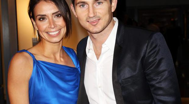 Christine Bleakley and her fiancé Frank Lampard