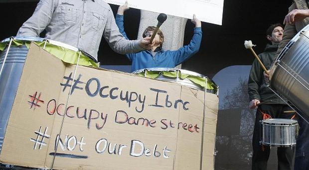 Businesses hope to evict the Occupy Dame Street protesters