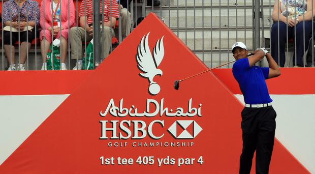 ABU DHABI, UNITED ARAB EMIRATES - JANUARY 25: Tiger Woods of the USA during the pro-am for the Abu Dhabi HSBC Championship at the Abu Dhabi Golf Club on January 25, 2012 in Abu Dhabi, United Arab Emirates. (Photo by David Cannon/Getty Images)