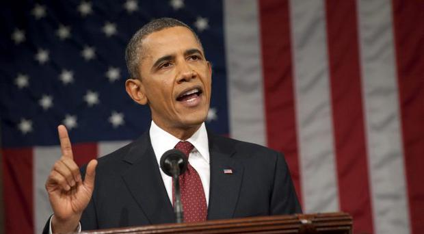 President Barack Obama delivers his State of the Union address on Capitol Hill in Washington, Tuesday, Jan. 24, 2012