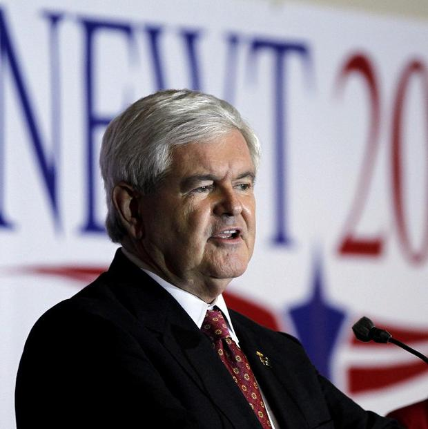 Newt Gingrich promised to put a base on the moon if elected president (AP)