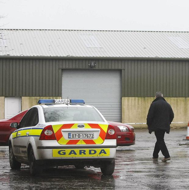 Gardai at the scene in Durrow, Co Offaly