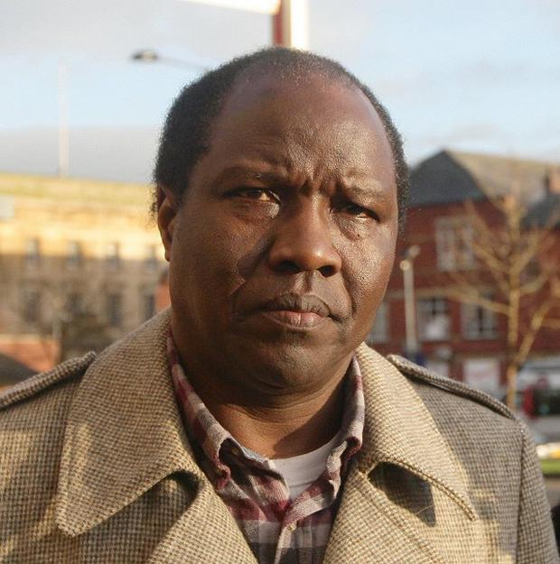 The Rev Canon Dr John Magumba arrives at Bolton Crown Court, where he was jailed for carrying out sham marriages