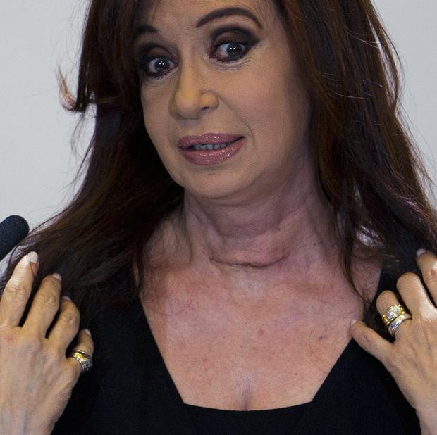 Speaking after her cancer scare operation, Argentina's President Cristina Fernandez launches an attack on Britain over the Falklands(AP)