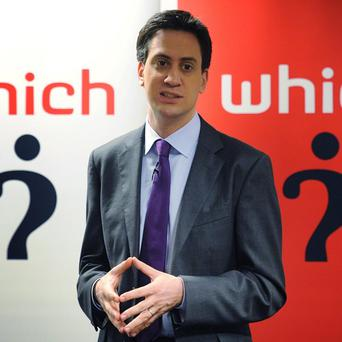 Labour leader Ed Miliband claims his party is 'shaping the battle of ideas'