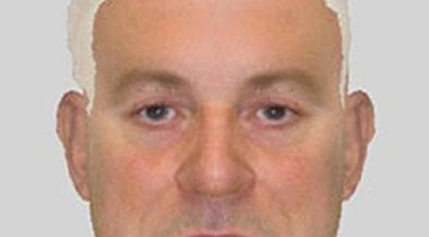 An e-fit image of a man who helped prisoner Andrew Farndon escape while being transported to hospital