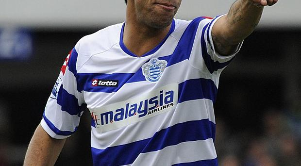 Anton Ferdinand of QPR in action against Chelsea in the FA Cup tie at Loftus Road