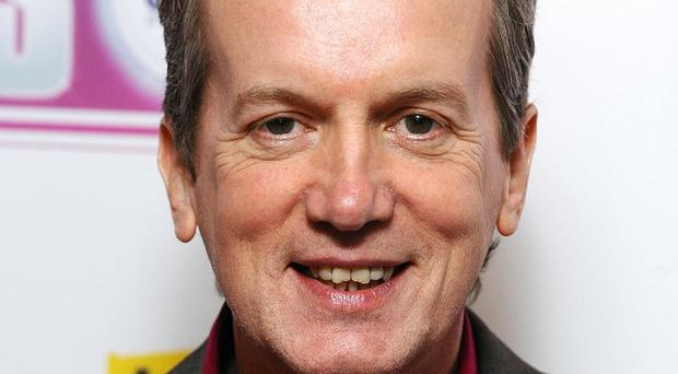 Comic Frank Skinner has revealed to radio listeners he is set to become a father - at the age of 55