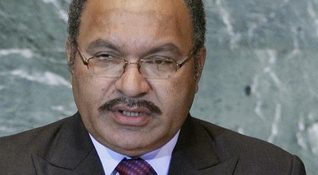 Peter O'Neill claims to be the rightful leader of Papua New Guinea (AP)