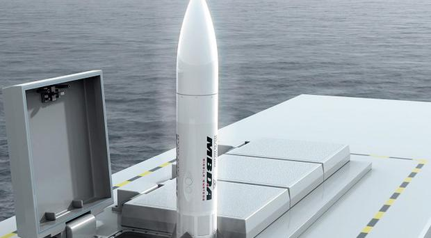 A Ministry of Defence computer-generated image of the Royal Navy's planned Sea Ceptor missiles (MBDA/MoD/Crown Copyright/PA)
