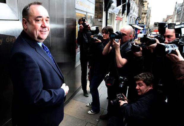 Grand nationalist: Scotland's First Minister and independence crusader Alex Salmond